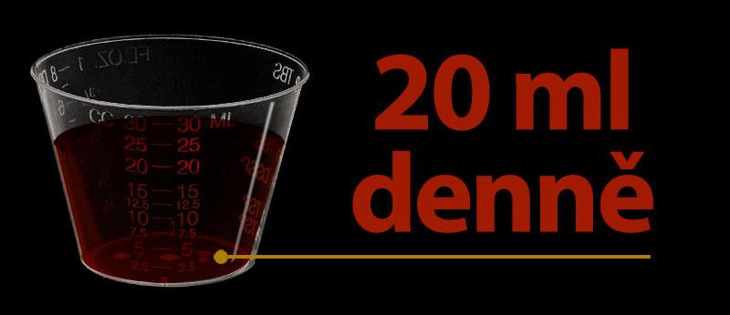 20 ml denně